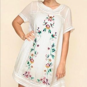 Plus Size Umgee Dress with embroidery flowers
